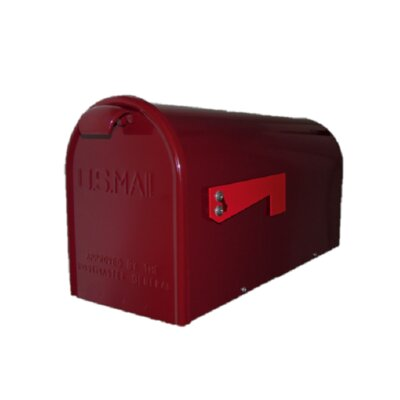 Newport Post Mounted Mailbox Finish: Burgundy