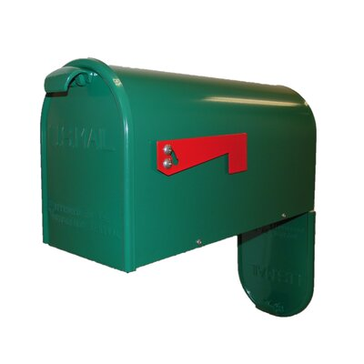 Newport Post Mounted Mailbox Mailbox Color: Green