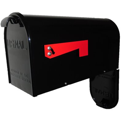 Newport Post Mounted Mailbox Mailbox Color: Black
