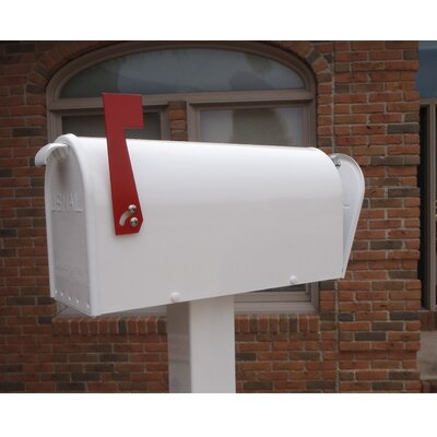 Newport Post Mounted Mailbox Mailbox Color: White