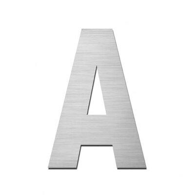 "Serafini Hausnummer selbstklebend ""A"" aus Edelstahl V4A"