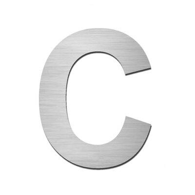 """Serafini Hausnummer selbstklebend """"C"""" aus Edelstahl V4A"""