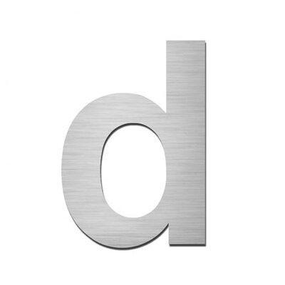 """Serafini Hausnummer selbstklebend """"d"""" aus Edelstahl V4A"""
