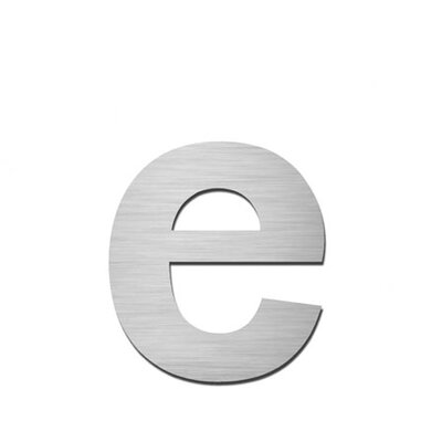 """Serafini Hausnummer selbstklebend """"e"""" aus Edelstahl V4A"""