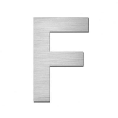 "Serafini Hausnummer selbstklebend ""F"" aus Edelstahl V4A"