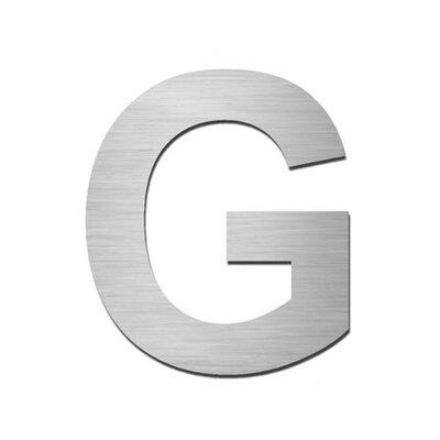 """Serafini Hausnummer selbstklebend """"G"""" aus Edelstahl V4A"""