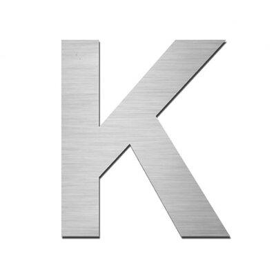 """Serafini Hausnummer selbstklebend """"K"""" aus Edelstahl V4A"""