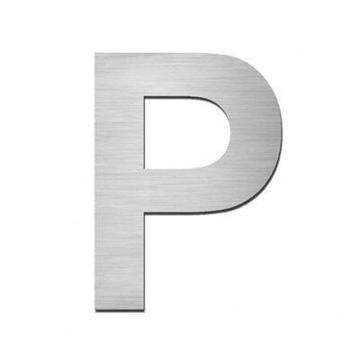 """Serafini Hausnummer selbstklebend """"P"""" aus Edelstahl V4A"""