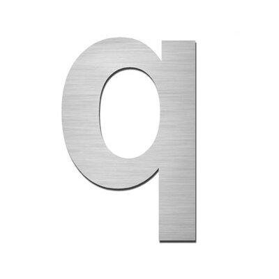 "Serafini Hausnummer selbstklebend ""q"" aus Edelstahl V4A"