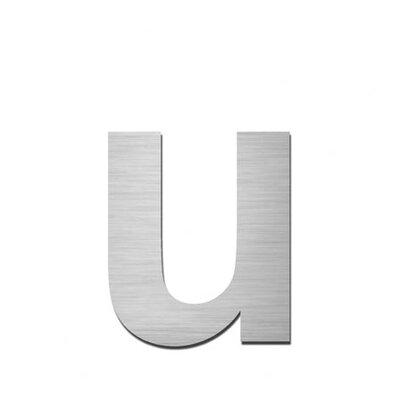"Serafini Hausnummer selbstklebend ""u"" aus Edelstahl V4A"