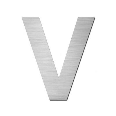 """Serafini Hausnummer selbstklebend """"V"""" aus Edelstahl V4A"""
