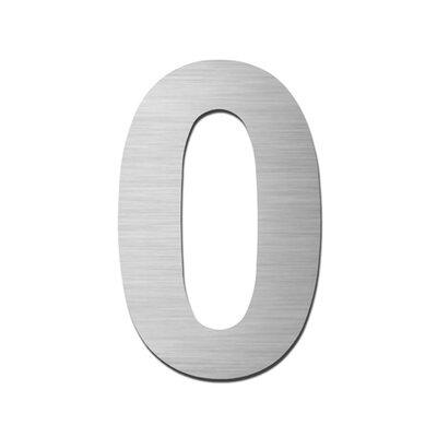 """Serafini Hausnummer selbstklebend """"0"""" aus Edelstahl V4A"""