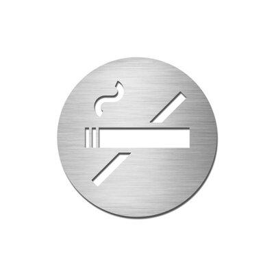 """Serafini Piktogramm rund selbstklebend """"Nichtraucher"""" aus Edelstahl V4A"""