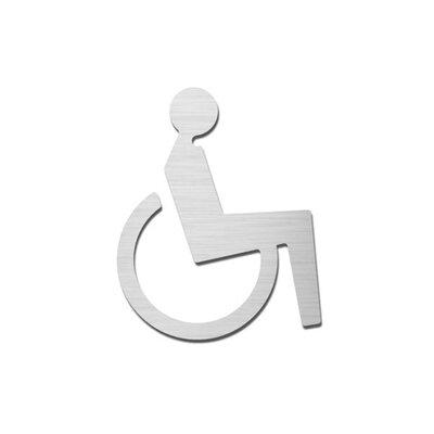 "Serafini Piktogramm ""Behinderte"" aus Edelstahl V4A"
