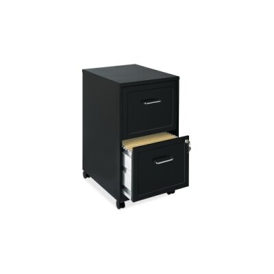 "Bessie 18"" 2-Drawer Mobile File Cabinet Finish: Black"