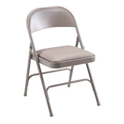 U-Brace Steel Folding Chairs, Padded Seat, Beige