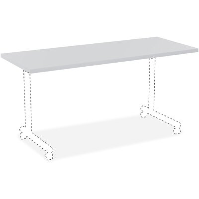 """Invent Table Top Color: Light Gray, Size: 3"""" H x 62"""" W x 26"""" D"""