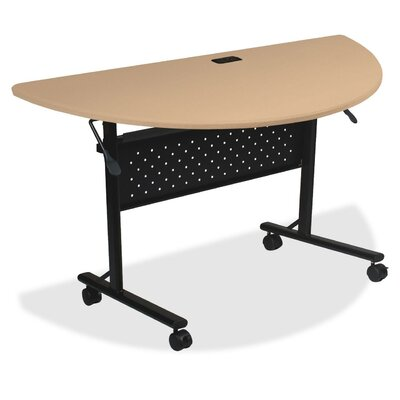 "Ehmann Flipper Training Table with Wheels Size: 30"" H x 51"" W x 4"" D, Tabletop Finish: Teak"