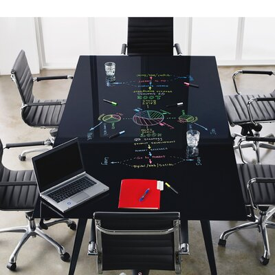 """Conference Table Top Size: 3.2"""" H x 78"""" W x 36.5"""" D"""