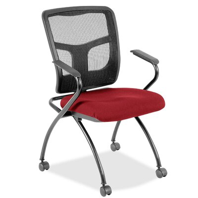 Fabric Padded Folding Chair Color: Real Red