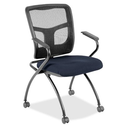 Fabric Padded Folding Chair Color: Periwinkle Blue
