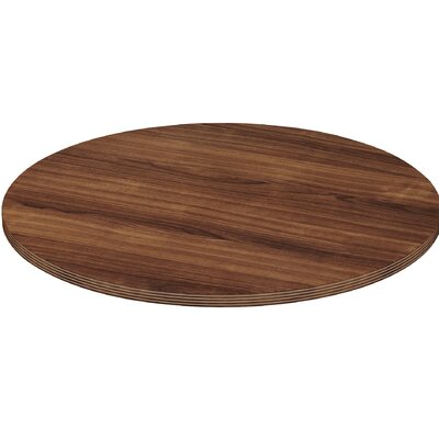 """Chateau Conference Table Top Finish: Walnut, Size: 3.3"""" H x 50.4"""" W x 50.4"""" D"""