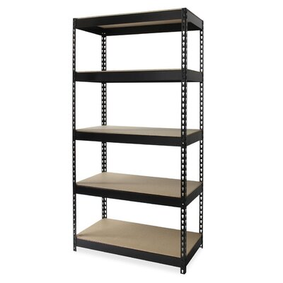 """Riveted Steel 5 Compartment Shelving Size: 72"""" H x 36"""" W x 16"""" D"""