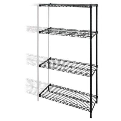 "Tier Wire Rack 72"" H 4 Shelf Shelving Unit Add-On"