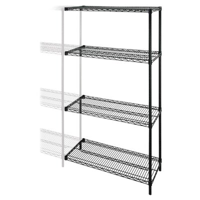"Industrial Adjustable Wire 72"" H 4 Shelf Shelving Unit Add-On"