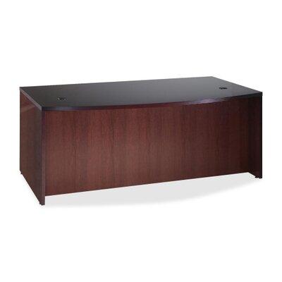 Lorell 88000 Fluted Edge Veneer Furniture , Mahogany