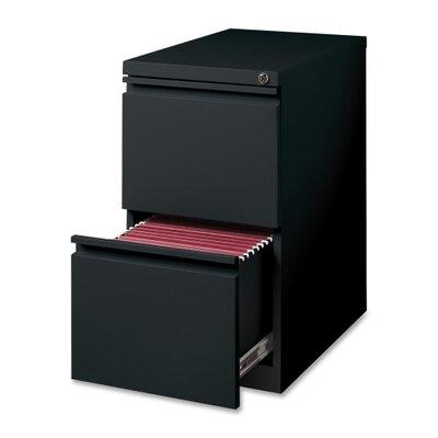 """Lorell 15"""" W x 22.9"""" D 2-Drawer Mobile Pedestal File"""