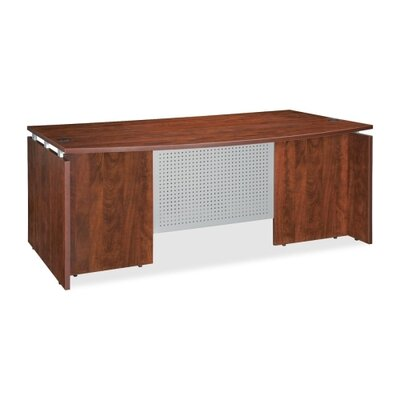 Bowfront Executive Desk Shell Finish: Cherry