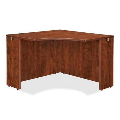 High-Quality Laminate Corner Desk Shell Color: Cherry