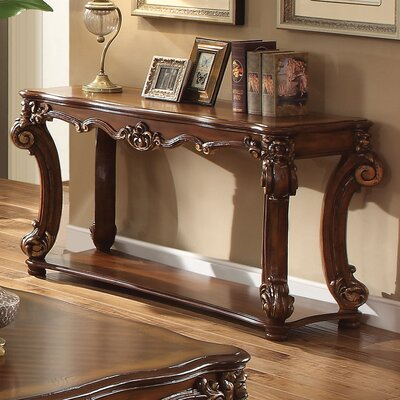 "Welles Console Table Size: 29"" H x 59"" W x 26"" D, Color: Cherry"
