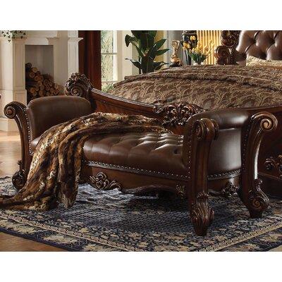 Welles Upholstered Bench Upholstery: Cherry