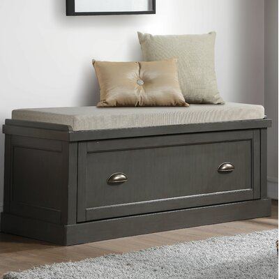 Balduno Wood Storage Bench Upholstery: Gray