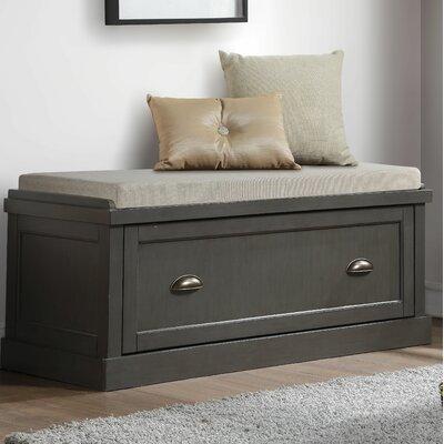 Balduno Wood Storage Bench Upholstery: Gray