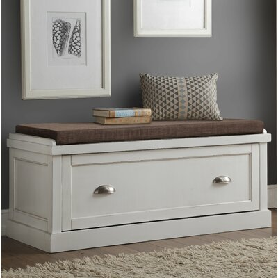 Balduno Wood Storage Bench Upholstery: White