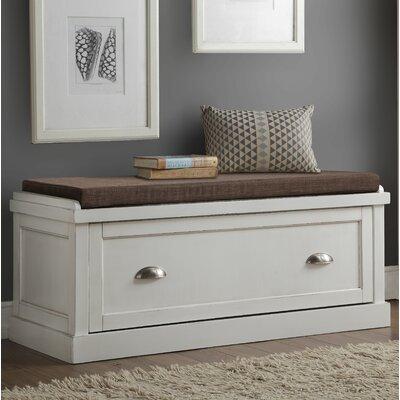Balduno Wood Storage Bench Upholstery: White