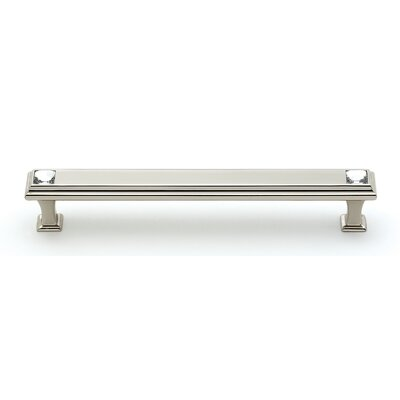 "Geometric 6"" Center Bar Pull Finish: Polished Nickel"