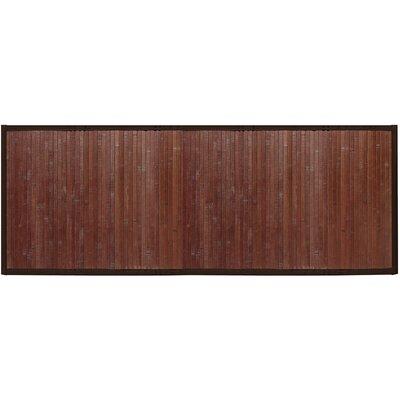 Bamboo Runner Bath Rug Color: Chocolate