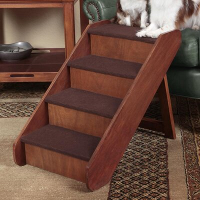 Merveilleux PupStep 4 Step 20u0027u0027 Wood Pet Stairs