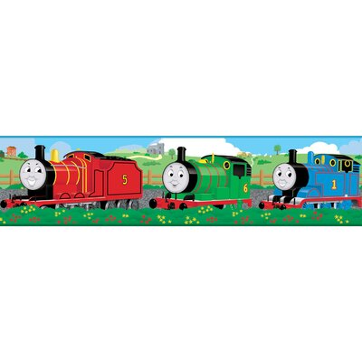 "Room Mates Thomas and Friends 15' x 5"" Scenic Border Wallpaper"