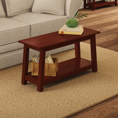 Craftsman Wood Bench Color: Cherry