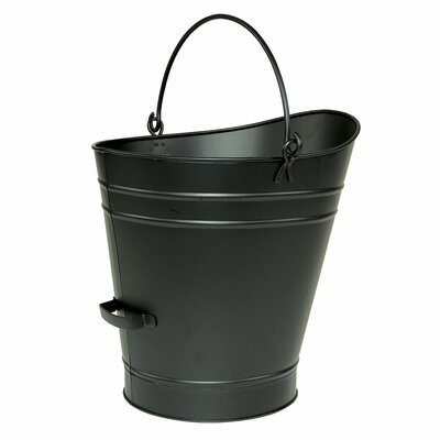 "Pellet Bucket Finish: Black Powdercoat, Size: 18"" H x 17"" W"
