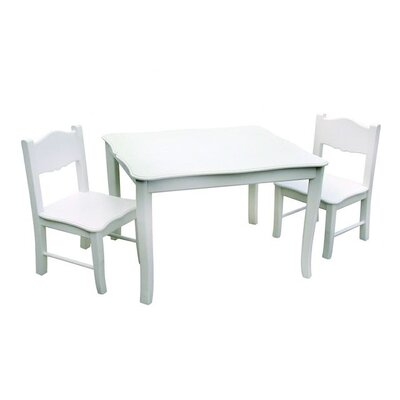 Guidecraft Classic White Children's 3 Piece Table and Chair Set