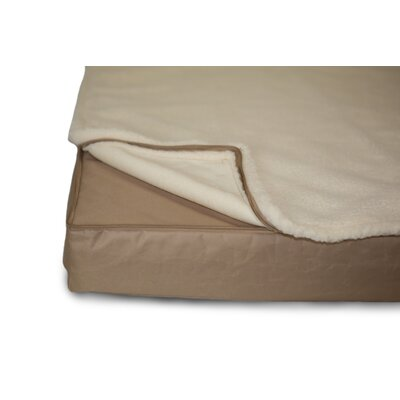 Deluxe Outdoor Memory Foam Dog Bed with Removable Cover Color: Sand, Size: Medium (30