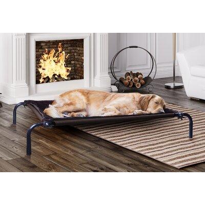 Nelda Plush Blanket Accessory for Elevated Pet Cot Size: Large, Color: Espresso