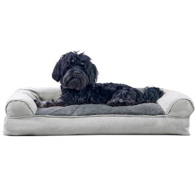 "Flash Dog Bolster Color: Deep Pool, Size: 8"" H x 36"" W x 27"" D"