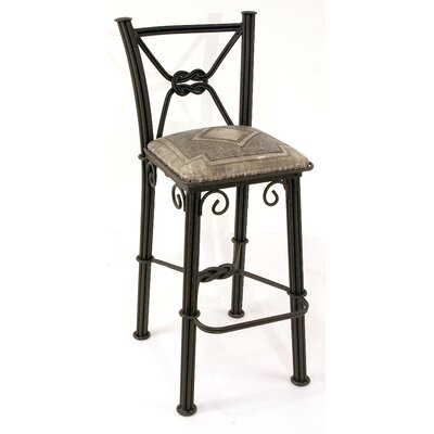 Chaucer Bar Stool Upholstery: Ash